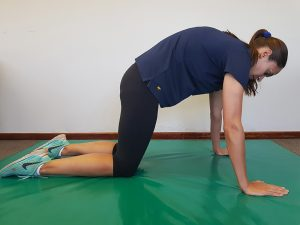 Ankylosing Spondylitis Exercises and Aqua-Therapy Camel Pose demonstrated by Jenna-Lee Field at Fish and Field Biokineticists in Bryanston