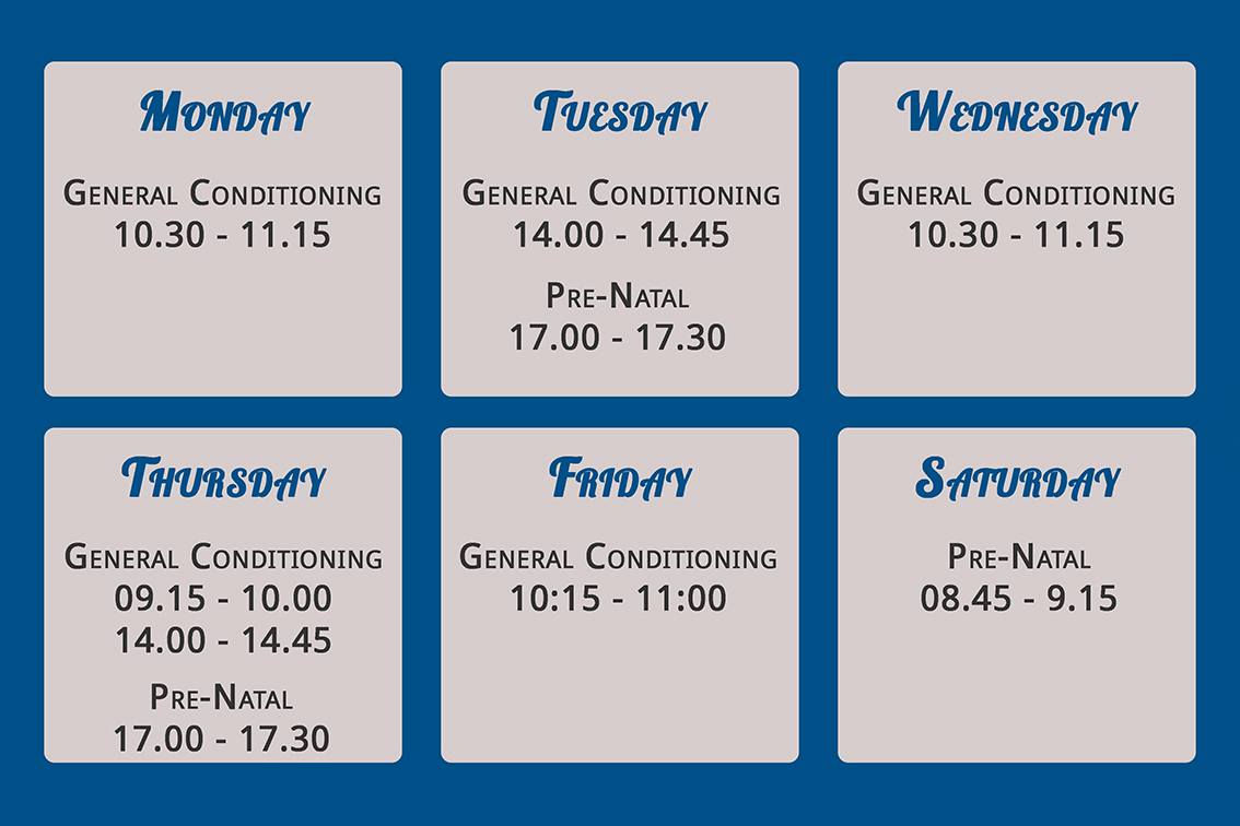 Group Classes Schedule for Fish & Field Bionikineticists at Off Nicol in Bryanston, Sandton
