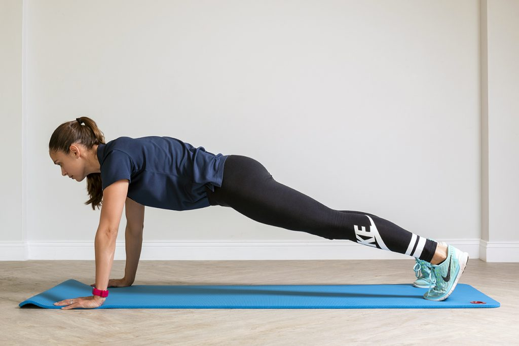 Strength training like that using your own body weight in a plank pose is an importrant component of rehabilitation as illustrated by Fish & Field Biokineticists