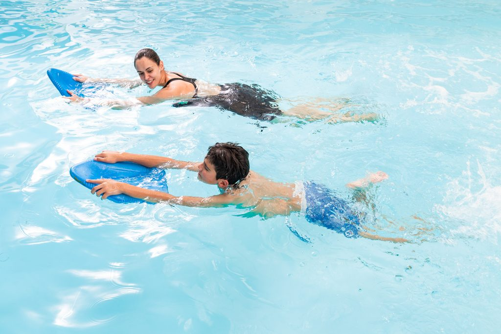 Swimming for endurance training is an important component of rehabilitation and has many physical benefits as illustrated by Fish & Field Biokineticists